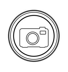 Contour emblem camera icon vector