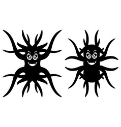 Cute strange creatures isolated vector