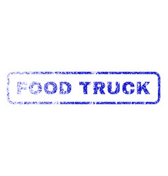 Food truck rubber stamp vector