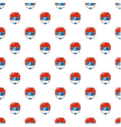 Hockey helmet pattern seamless vector