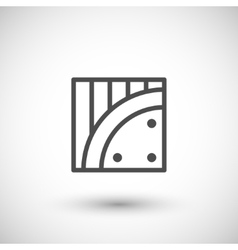 Insulation line icon vector