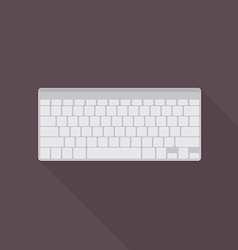 Keyboard icon top view vector