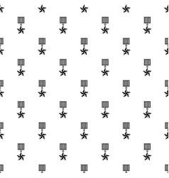 Medal star pattern vector