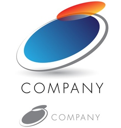modern and elegant corporate emblem vector image vector image