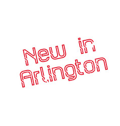 New in arlington rubber stamp vector