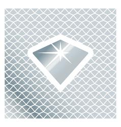 Silver Brilliant Symbol vector image