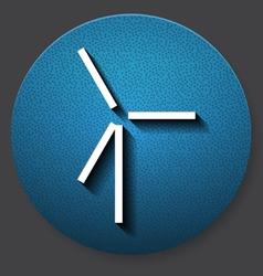 Single wind mill icon vector