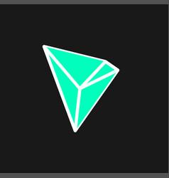 Tron icon vector