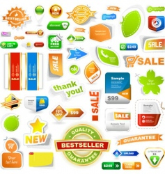 various sale design elements vector image vector image