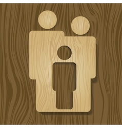Wooden family vector image