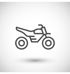 Motocross motorcycle line icon vector