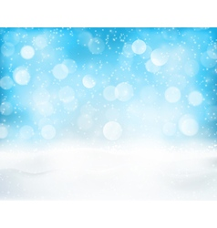 Light blue winter holiday bokeh background vector image