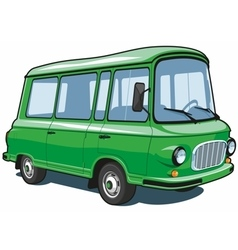 Cartoon green van vector