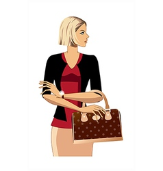 professional woman vector image