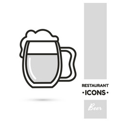 Beer restaurant icon collection vector