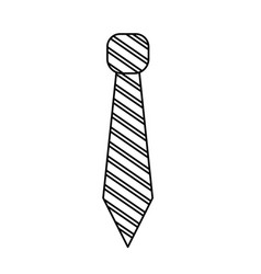 Line elegant tie to use in special day vector