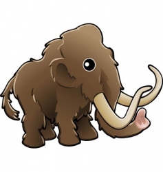 Cute woolly mammoth vector
