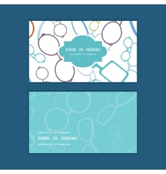 Colorful glasses horizontal frame pattern business vector