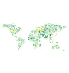 World map Eco Font set seamless pattern vector image
