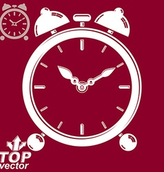 3d alarm clock with two symmetric bells wake up vector