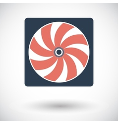 Radiator fan flat icon vector