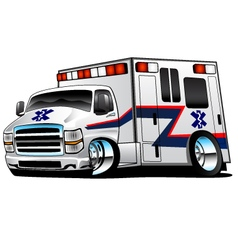 White paramedic ambulance rescue vector