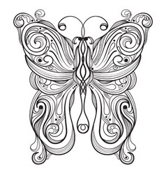 monochrome butterfly vector