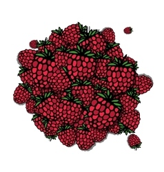 Raspberry frame sketch for your design vector