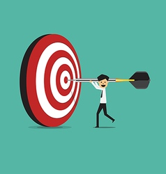 Businessman success target vector