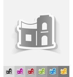 Realistic design element arabic house vector