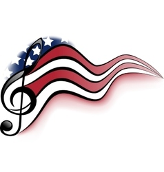 American music notes vector