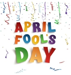 April fools day background vector