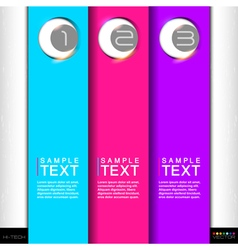 Set of colorful stickers for various options art vector image