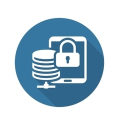Mobile secure storage icon flat design vector
