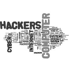 A closer look at cyber crooks text word cloud vector
