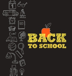 Back to scholl concept vector