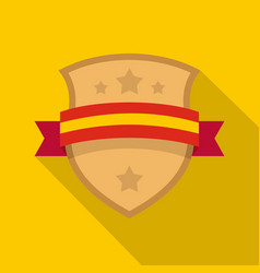 badge knight icon flat style vector image vector image