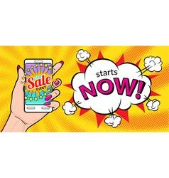 Best sale event starts now vector