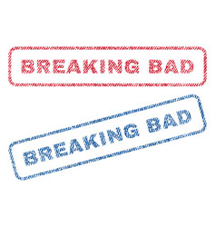 Breaking bad textile stamps vector