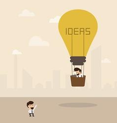 Businessman on lightbulb idea vector image vector image