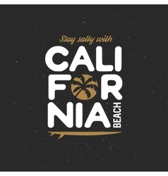 California beach t-shirt graphics Vintage vector image vector image