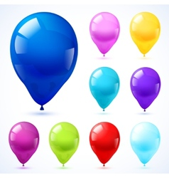 Color balloons icons set vector image