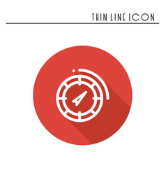 compass line simple icon weather symbols vector image vector image