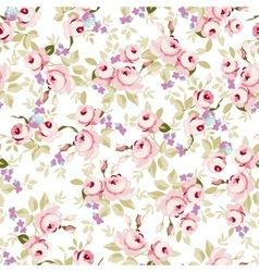Floral pattern with little pink roses vector image