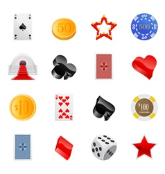 gambling icon vector image