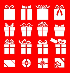 Gift red vector