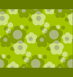 Green and white flower minimalist style vector