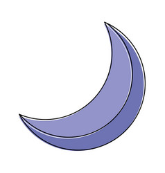 Half moon night celestial natural image vector