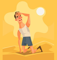 Hot weather and summer day vector