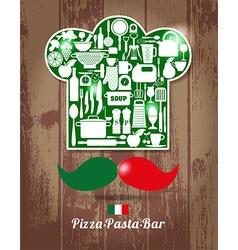 Italian chief cook vector